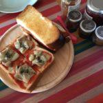 娘に残す料理レシピ'180203朝食【ピザトースト】おまけ付き