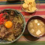 娘に残すレシピ'180206【(なんちゃって)ソーキ丼】【おまけ】