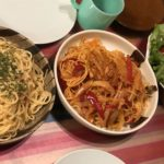 【Tunapolitan&Tarako-Pastaツナポリタンとたらこスパゲティ】