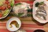 娘に残す料理レシピ'180130【塩豚バラ焼き】【お刺身盛り】(手抜き料理w)